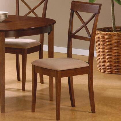 101774 Mix & Match Cross Back Dining Chair with Fabric Seat  Square Tapered Legs  Clean Lines  Smooth Edges  and Wood Frame in