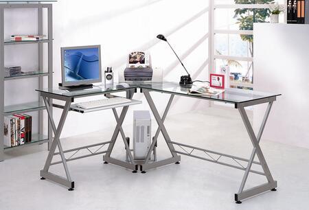 RTA-3802-GLS Techni Mobili L-shaped Glass Computer