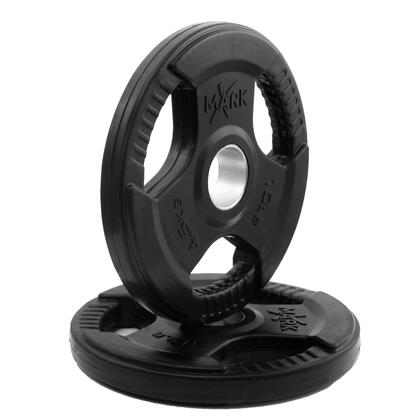 XM-3377-10-P XMark Rubber Coated Tri-grip Olympic Plate Weights