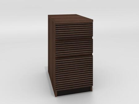 TANGO-16OFP Tango Office Collection 3 Drawer File Cabinet In Brazilian Cherry With A Cognac