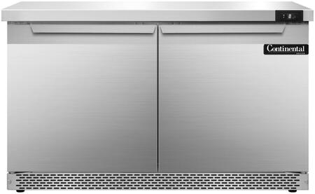 SWF48FB 48 inch  Worktop Freezer with 2 Solid Doors  13.4 Cu. Ft. Capacity  Front Breathing Compressor  Aluminum Interior  Interior Hanging Thermometer  and