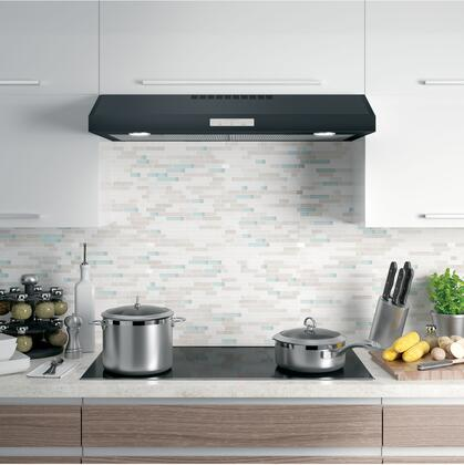 PVX7360FJDS 36 inch  Under Cabinet Standard Range Hood with 400 CFM  Auto-Off  Chef Connect  LED Lighting  and Glass Touch Controls  in Black