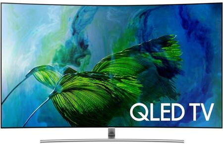 "QN75Q8CAMFXZA 75"" Q8C QLED 4K Curved TV with Quantum Dots  4K Ultra HD Resolution  240 Motion Rate  and Smart Hub  in"