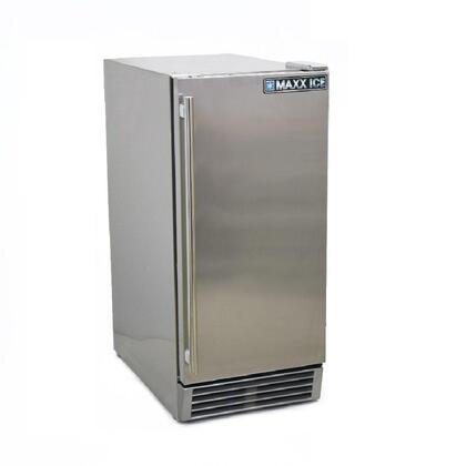 MCR3UO 15 inch  Commercial Outdoor Refrigerator with 3 cu. ft. Capacity  3 Shelves  1 Basket  Reversible Door  Interior Light and Air Cooled Condenser in Stainless