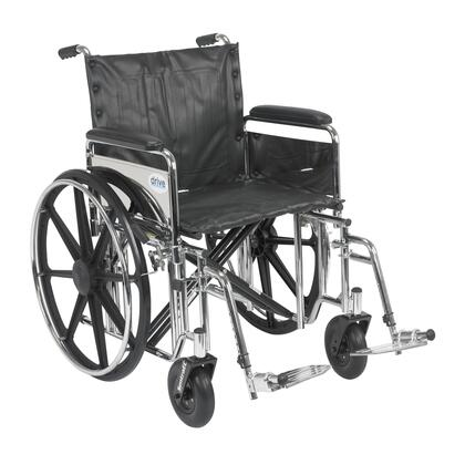 std20dfa-sf Sentra Extra Heavy Duty Wheelchair  Detachable Full Arms  Swing Away Footrests  20