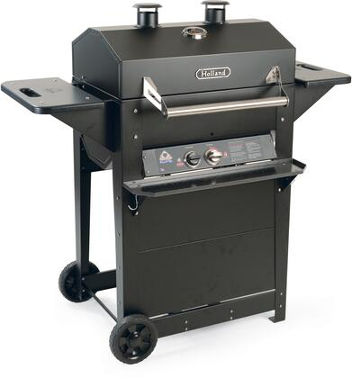 BH421AG11 50 inch  Freestanding Freedom Grill with Thermometer  1 Burner  Smoking Tray  and Aluminum Lid  in