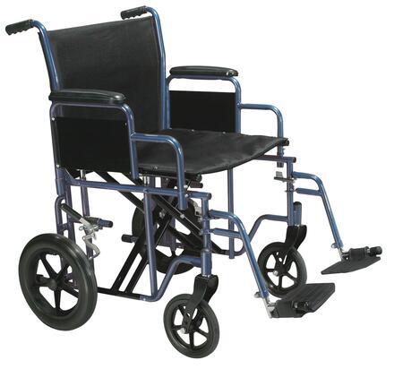 btr20-b Bariatric Heavy Duty Transport Wheelchair With Swing Away Footrest  20 Seat