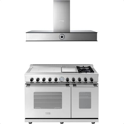 2-Piece Stainless Steel Kitchen Package with RN483GCSS 48