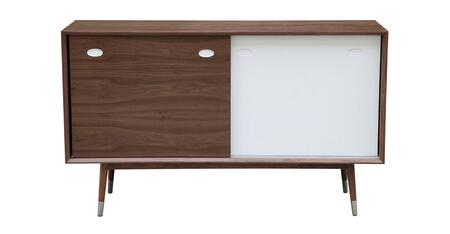STO-SB-ELRY-AK2830WL Elroy Credenza Cabinet  Mid-Century Modern Sideboard  Walnut