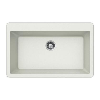 V-100 CLOUD Quartztone Series Granite Topmount Large Single Bowl Kitchen Sink