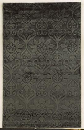 VILVT865100460203 Villa Travina VT8651-2' x 3' Hand-Loomed 100% Viscose Rug in Light Gray  Rectangle