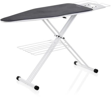 The Board 200IB Premium Home Ironing Board with Tube Frame Construction  Double Wishbone Legs  Laundry Rack and Magnetic Locking System  in