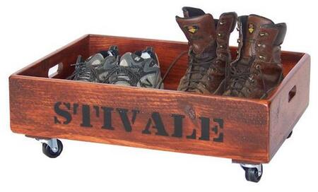 108-005 Boot Caddy with Wheels and Cutout Handles in