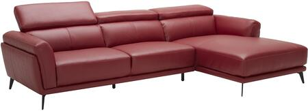 EK-LK385 Collection EK-LK385L-RED 2-Piece Sectional Sofa with Left Arm Facing Sofa and Right Arm Facing Chaise in