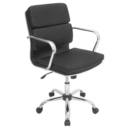 OFC-AC-BAC BK Bachelor Height Adjustable Office Chair with Swivel in