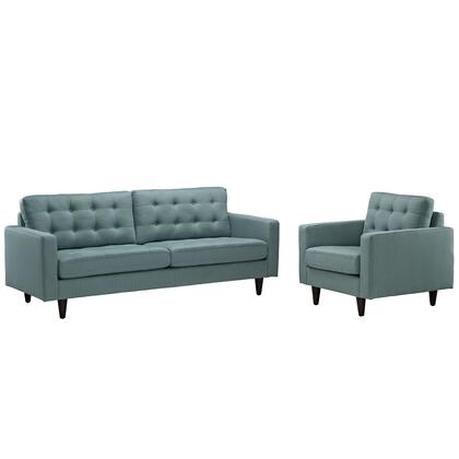 Eei-1313-lag Empress Armchair And Sofa Set Of 2 In Laguna