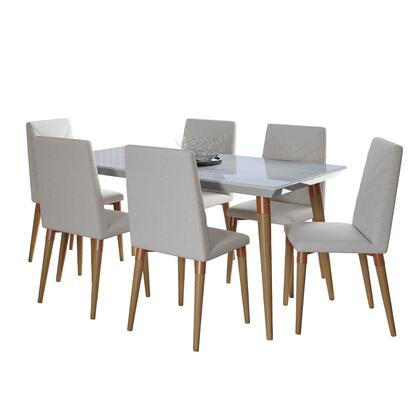 2-108852109251 Utopia 7-Piece Dining Room Set with 63