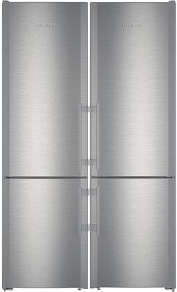 48 inch  Side-by-Side Refrigerator with 24 inch  CBS1360 and 24 inch  CBS1360L Bottom Freezer Refrigerators  990036800 Top Vent and 990155500 Side-by-Side Installation