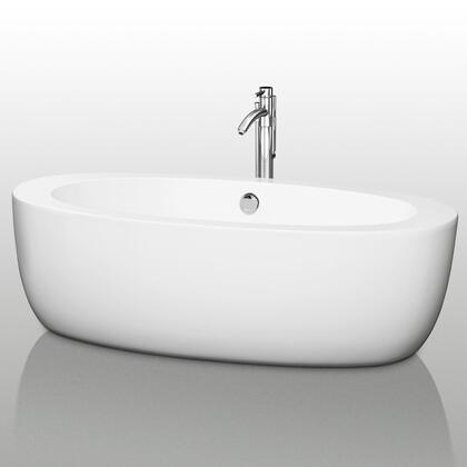 WCOBT100469 69 in. Center Drain Soaking Tub in White with Chrome
