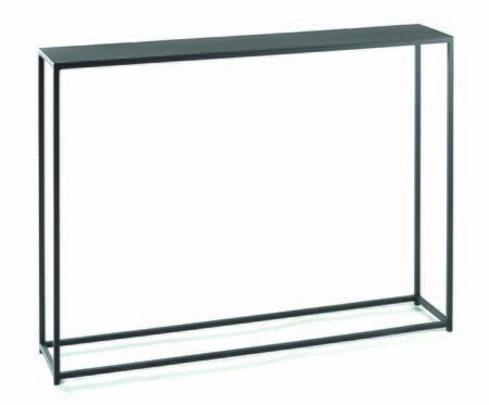 16570.08.132 Urban Console Table 8x40 With Solid Steel Rods  Steel Plate Tops & In
