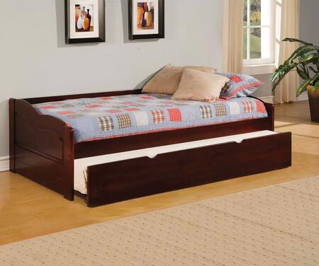 Sunset Collection CM1737-BED Twin Size Platform Daybed with Trundle Included  Slat Kit Included  Solid Wood and Wood Veneers Construction in Cherry