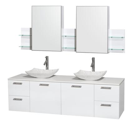 WCR410072DGWWSGS6MED 72 in. Double Bathroom Vanity in