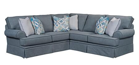 Emily Collection 6263-1-4/4022-44/CW4073-48/4122-44/8712-45 Two Piece Sectional Sofa with Right Arm Facing Loveseat  Left Arm Facing Corner Sofa in  Woven