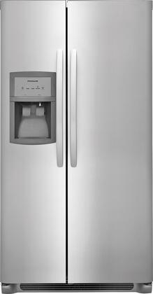 Frigidaire FFHX2325TS 33 Inch Freestanding Side by Side Refrigerator with 22.1 cu. ft Capacity, in Stainless Steel