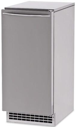 GEMU090 Pearl Self-Contained Ice Machine with Air Condensing Unit  Pure Ice Technology  115 Volt Plug-In and Quiet Operation in Stainless Steel