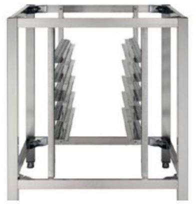 AX802 Oven Stand with Tray Support for 2 Axis Full Size Oven in Stainless