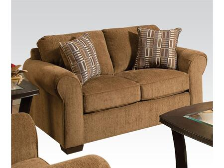 Torilyn Collection 51236 64 inch  Loveseat with Made in USA  Pillow Included  Wood Frame  Tight Back Cushions  Loose Seat Cushions and Fabric Upholstery in Lola