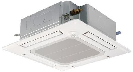 PLAA12BA6 34 inch  Ceiling Cassette Mini Split Indoor Unit with 12 000 BTU Cooling Capacity  R410A Refrigerant  9.5 EER  and 14 SEER  in