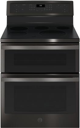 GE Profile PB960BJTS 30 Inch Electric Freestanding Range in Black Stainless Steel