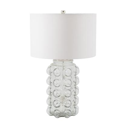 983-005 Bubble Table Lamp in Clear Glass With Off White