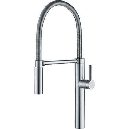 Pescara FFPD4450 Stainless Steel Pull-Down Kitchen Faucet with 1.75 GPM Flow Rate and Side Lever