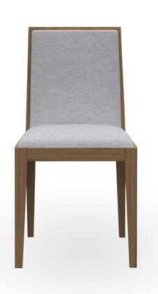 CPMK029-37-K02 Timber 2 PC Dining Chair Set with Tapered Legs and Fabric Upholstery in Light Birch