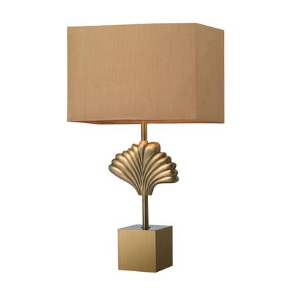 D2676 Vergato Solid Brass Table Lamp in Aged