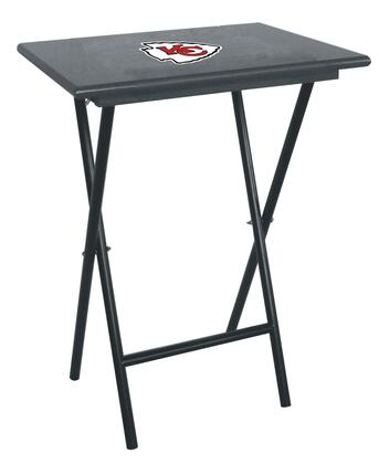 86-1006 Kansas City Chiefs TV Tray Set With Official Team Color and Logo & Stand (Sold In Sets Of