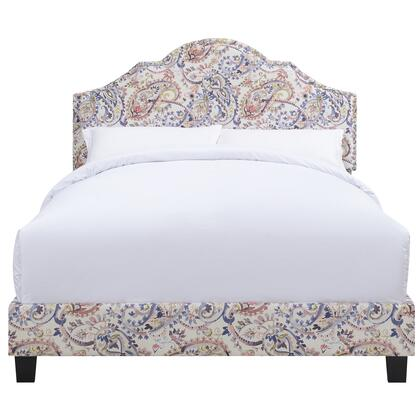 DS1928290286 All-In-One Shaped Fully Upholstered Paisley With Nail Head Trim In Multi Queen