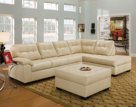 Shi 50625SO 2 PC Living Room Set with Sectional Sofa + Ottoman in Soho Natural