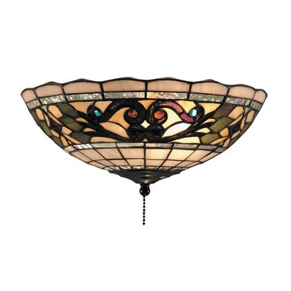 Elk Lighting 990-D Tiffany Buckingham 2-Light Ceiling Mount In Vintage Antique /w Tiffany Style Glass (Shipping Included) 990-D