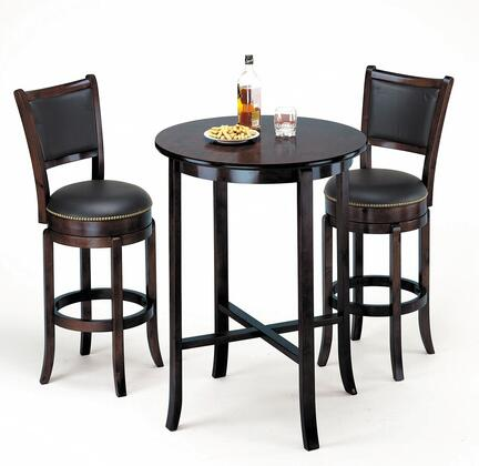 Chelsea Collection 07255BS Bar Table Set with Bar Table + 2 Bar Stools in Espresso