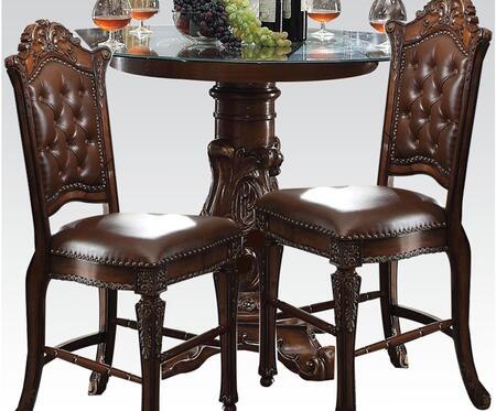 Vendome 62030T2C 3 PC Bar Table Set with Counter Height Table + 2 Chairs in Cherry