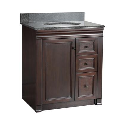 SHEA3021DR Shawna Collection 30 inch  Vanity with Oil Rubbed Bronze Knobs in a Tobacco
