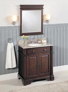 Click here for WF6493/DC Royal Teak 32 Single Sink Bathroom Vanit... prices
