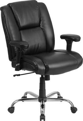 HERCULES Series 400 lb. Capacity Big & Tall Black Leather Task Chair with Height Adjustable Arms