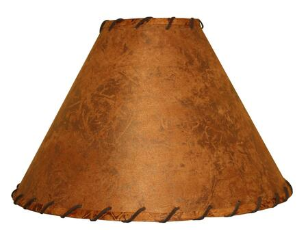 900-019 Rawhide Table Lamp Shade w/ Leather Trim