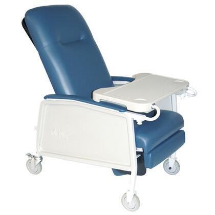 d574ew-br 3 Position Heavy Duty Bariatric Geri Chair Recliner  Blue