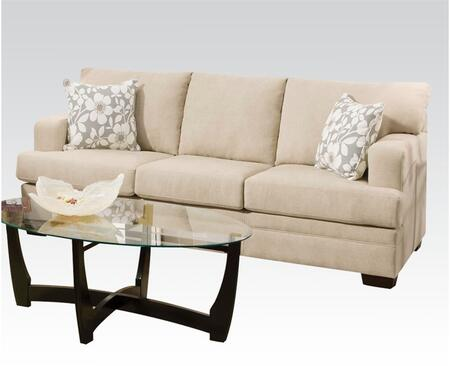 Norell Collection 51255 Sofa with Pillows Included and Fabric Upholstery in Caprice Hemp and Chicklet Ceil