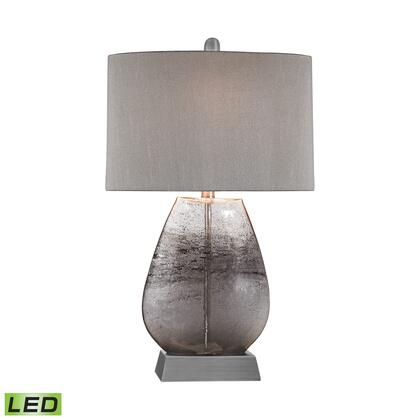 D2913-LED Haarlem 1 Light LED Table Lamp in Storm Grey And Pewter Storm